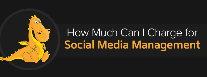 How much social media manager charge