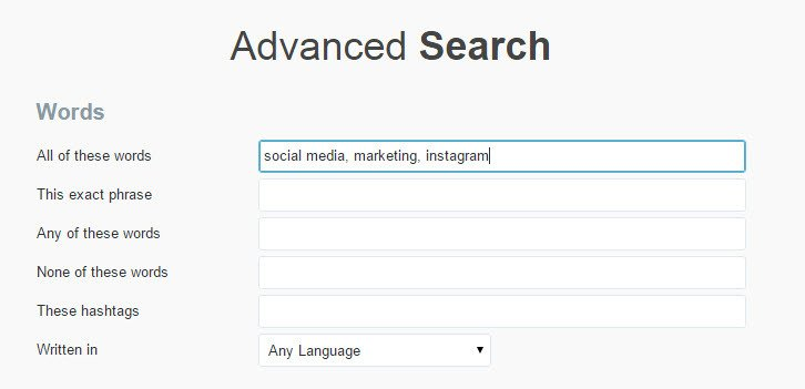 Use twitter advanced search to really target your audience