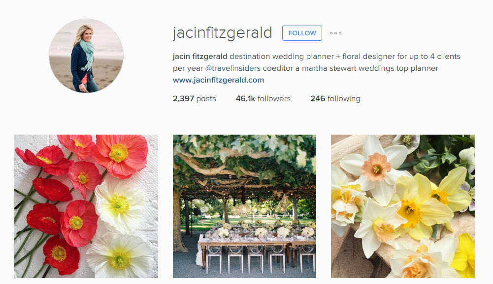 Find your perfect wedding destination with Jacin Fitzgerald on Instagram