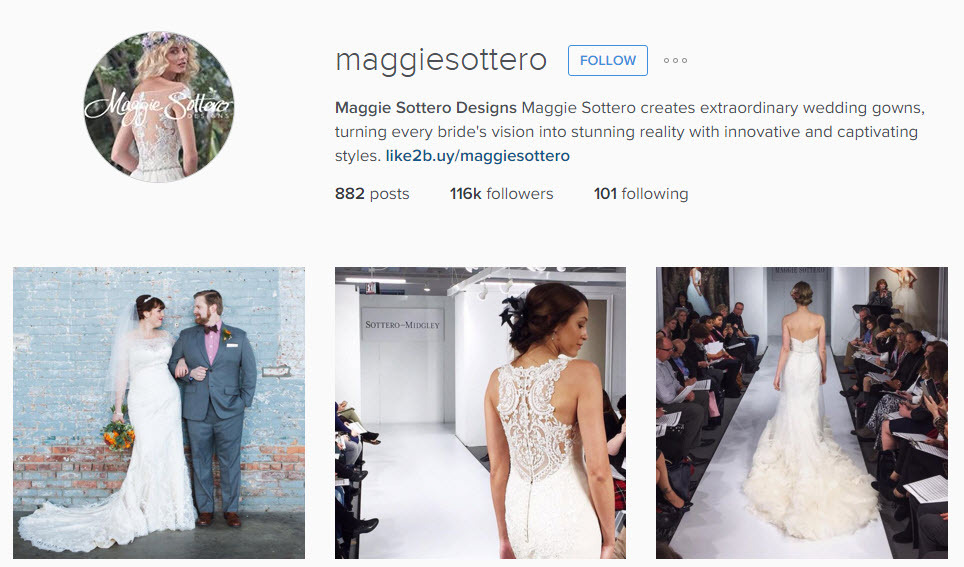 Use Instagram for your Bridal Inspiration