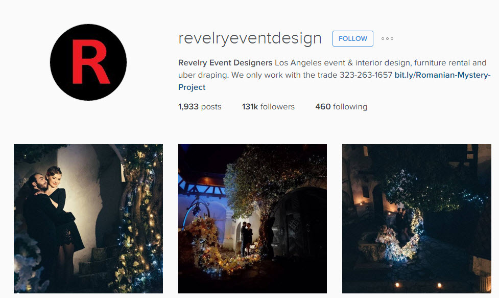 Instagram account to get wedding party ideas