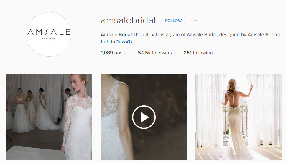 How to use Instagram to choose a bridal gown