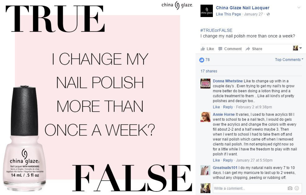 True or False questions increase engagement