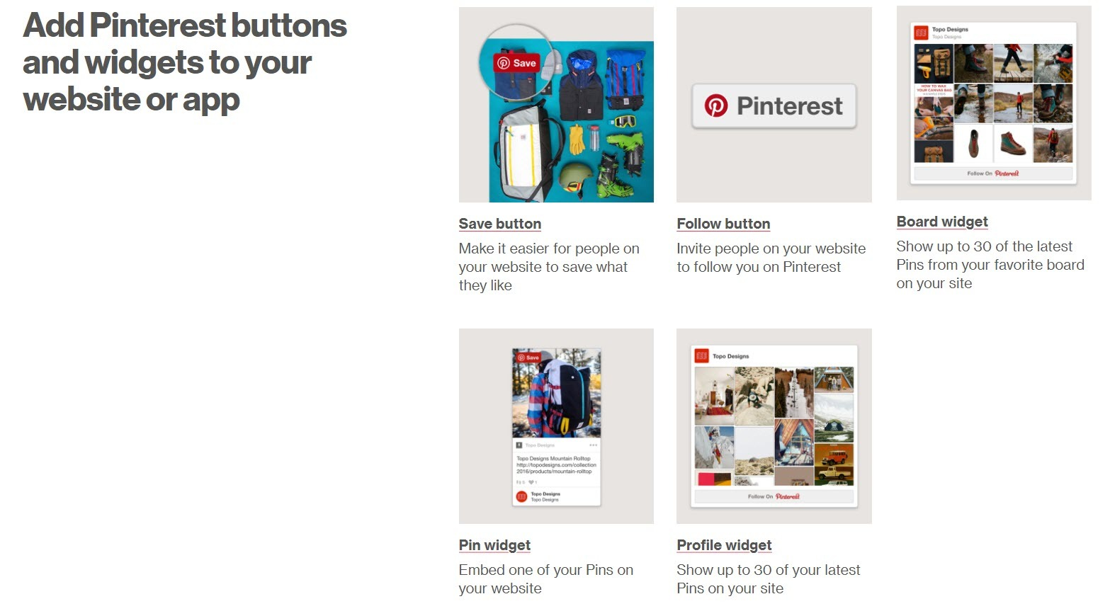 A list of useful pinterest widgets