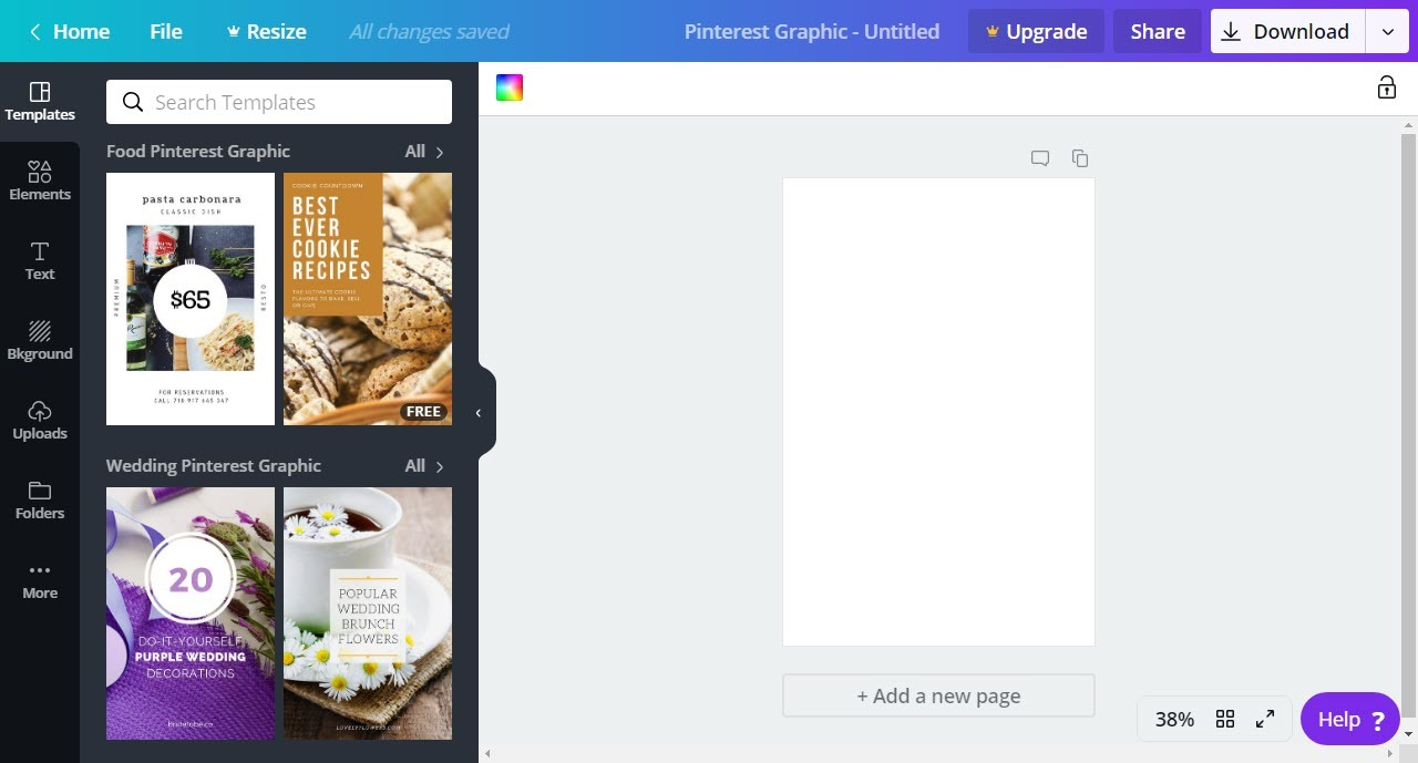 Canva is a great free pinterest tool