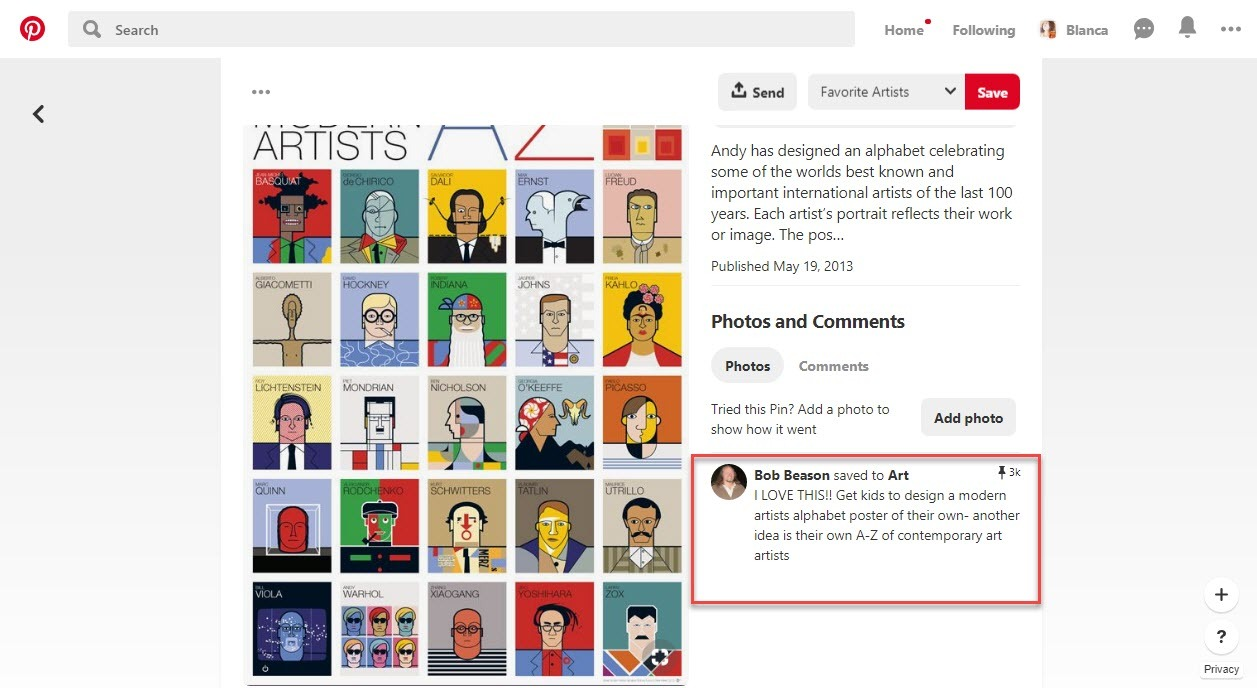 How to grow your Pinterest following with comments