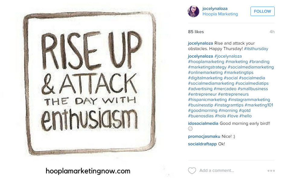Positive messages shared early in the morning can have a positive effect on your social media reach