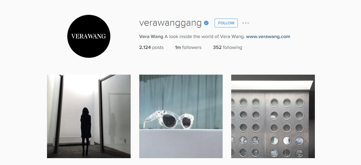 Vera Wang Inspiration for weddings can be found on her Instagram account
