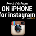 Editing images on your iphone