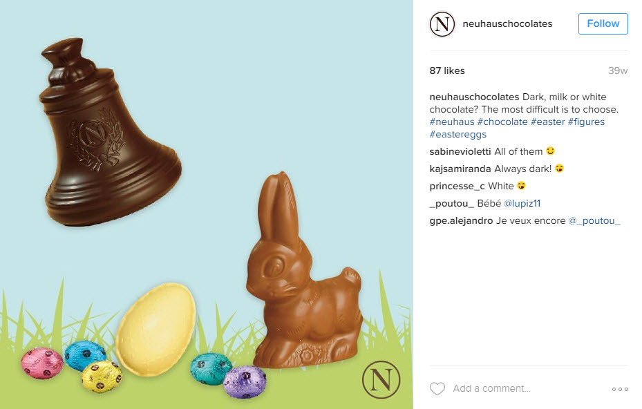 Combine business and Easter hashtags