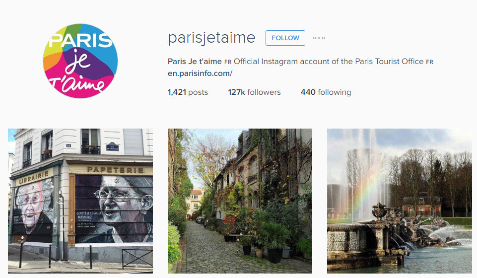 Paris has an incredible travel instagram account