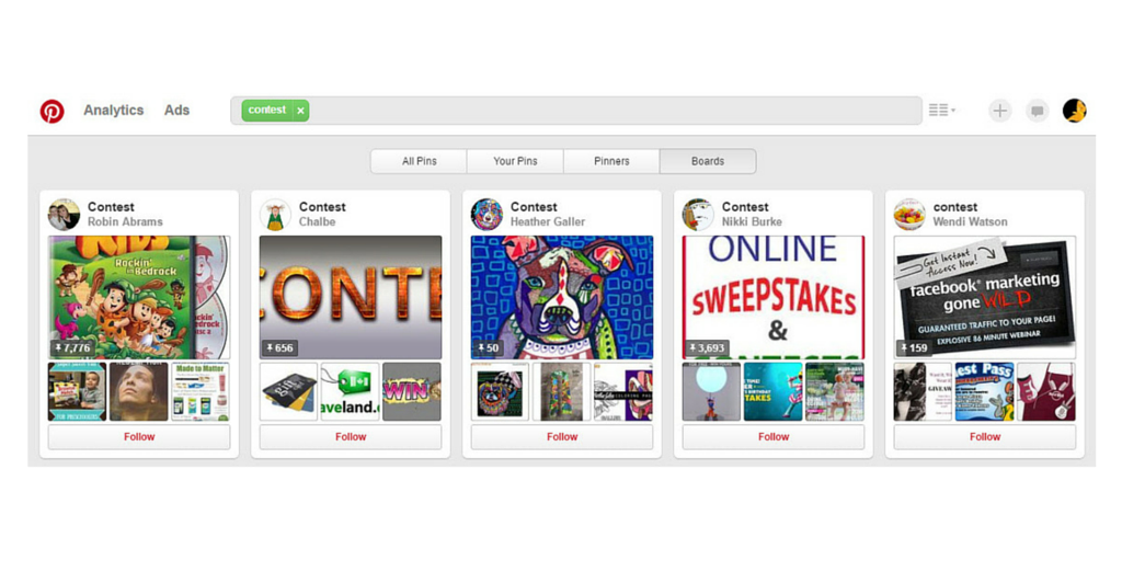 Galleries are a great way to gain excitement over contests on social media