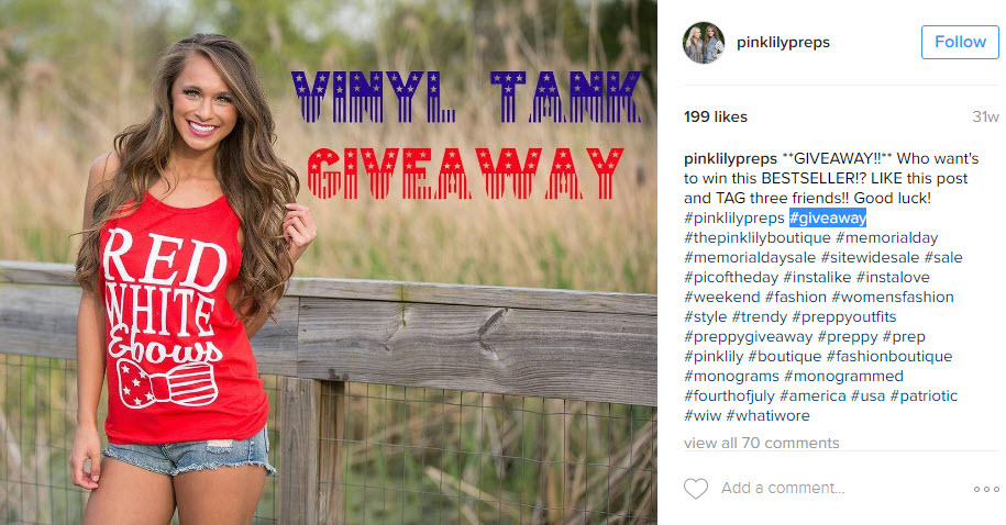 If you are running giveaways or contests on the 4th of July, make sure to use the right hashtags