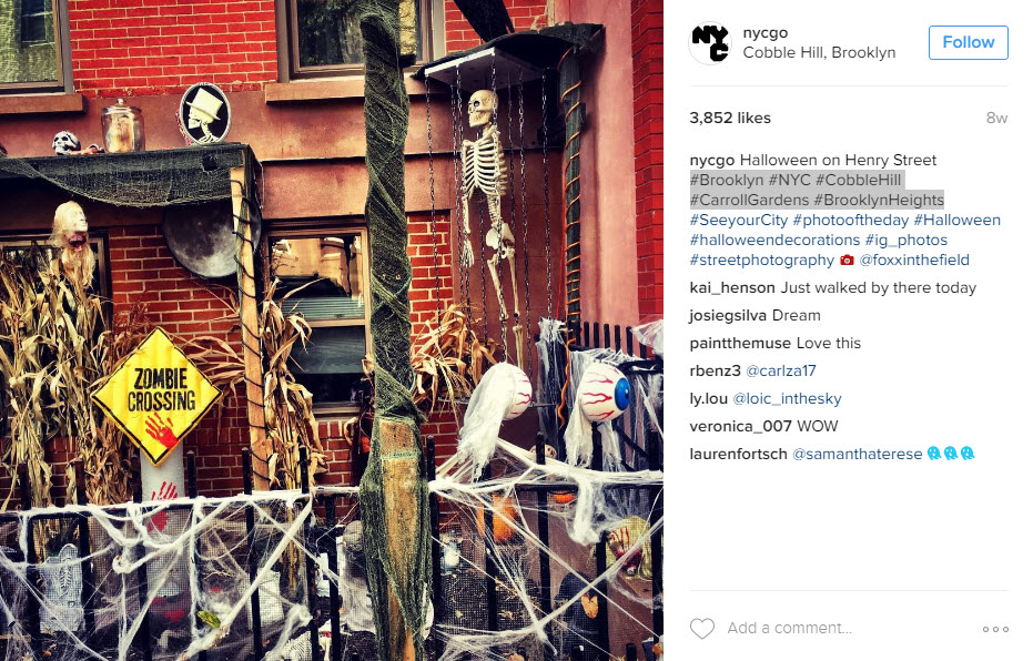 Use location hashtags so that people in your area see your Instagram posts
