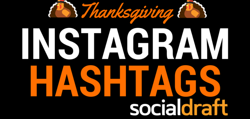 A list of optimized hashtags for the Thanksgiving holiday