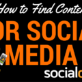 A guide and list of websites where you can curate content for Social Media