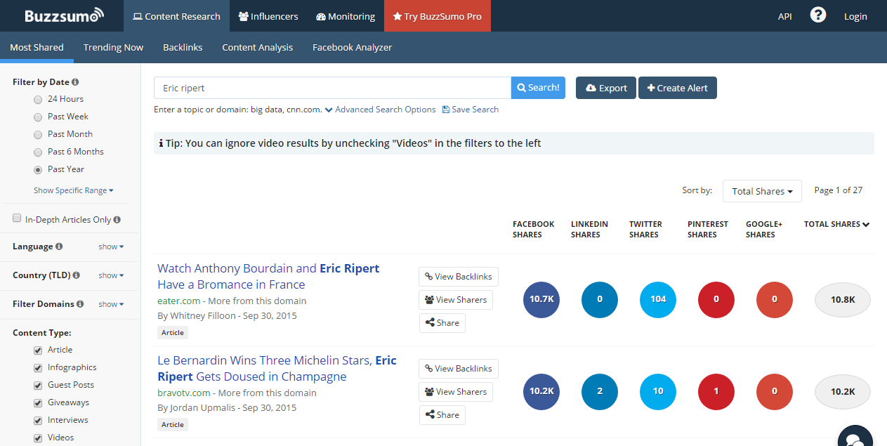 You can use Buzzsumo to find content for your social media calendar