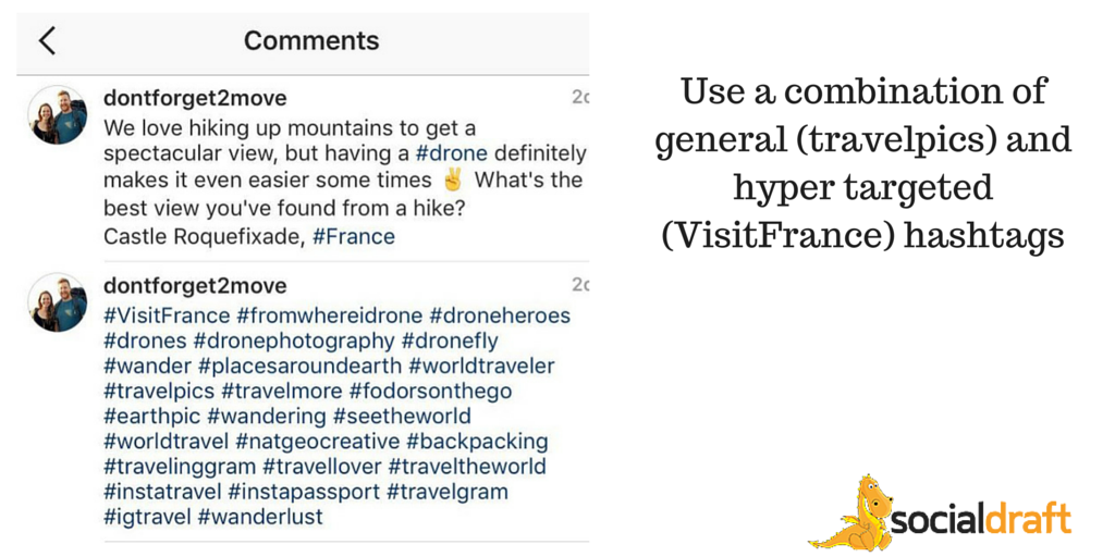 Hashtag strategy for Travel Instagram