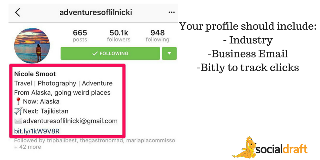 How to format your Instagram profile