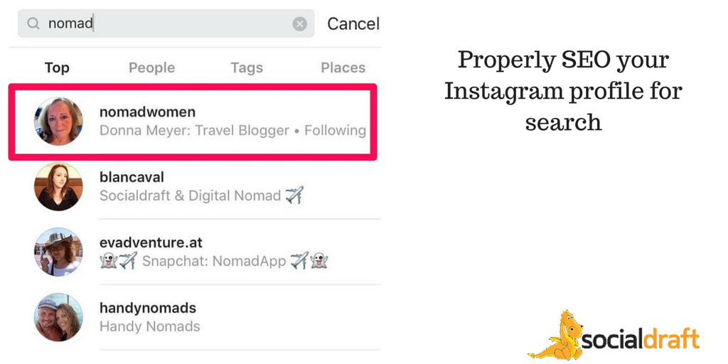 How to SEO your Instagram profiles