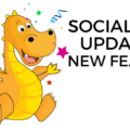 The new features to the socialdraft calendar are page and fan tagging on facebook, gif support, and larger previews