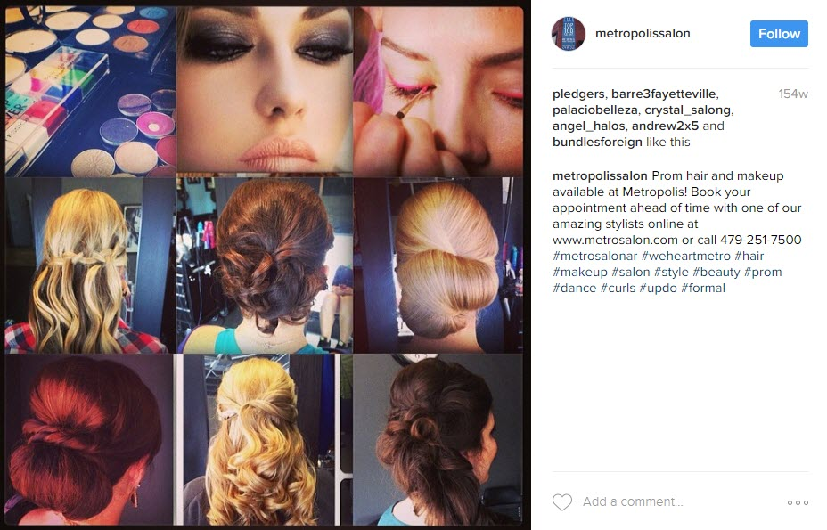 Keep events and happenings in mind for your Hair Salon's Instagram feed