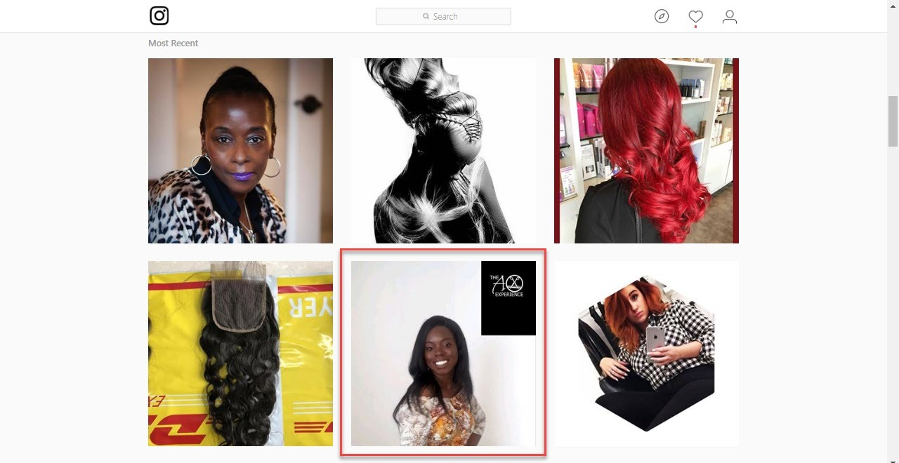 Add a watermark with your salon's name to your Instagram pictures