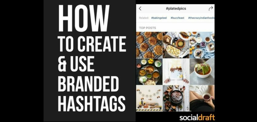 Branded hashtags can help you with content creation on Instagram