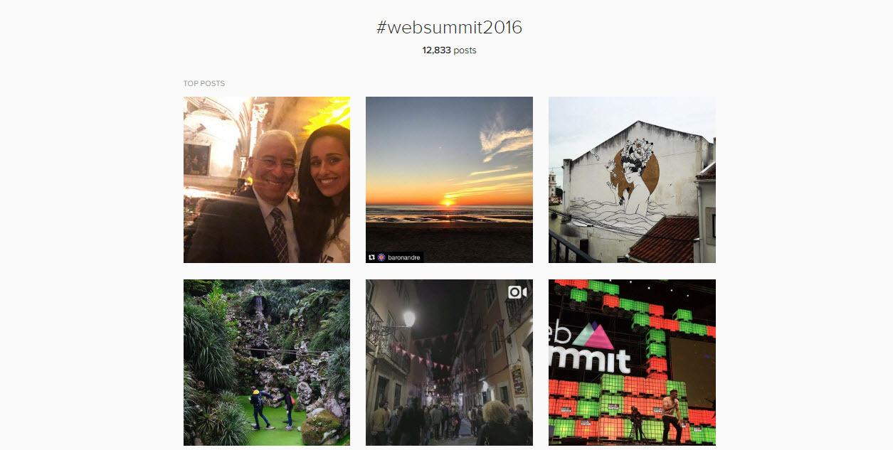 Branded hashtags are a great way to share in real time what is going on at an event