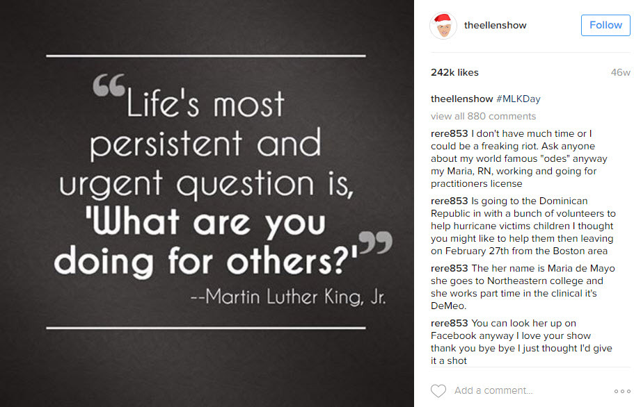 Keep things simple on Martin Luther King Day