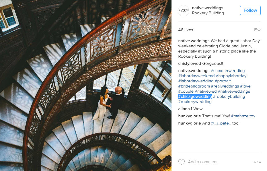Use geo location hashtags to be seen by a local audience