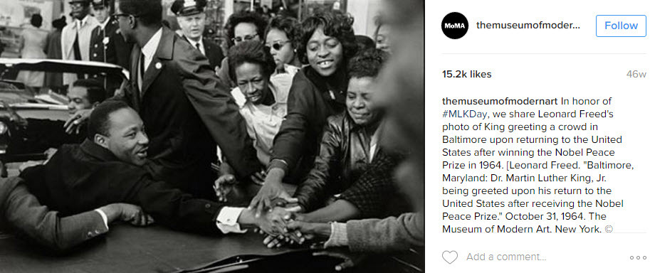 Educational posts can be very good for a brand on MLK day