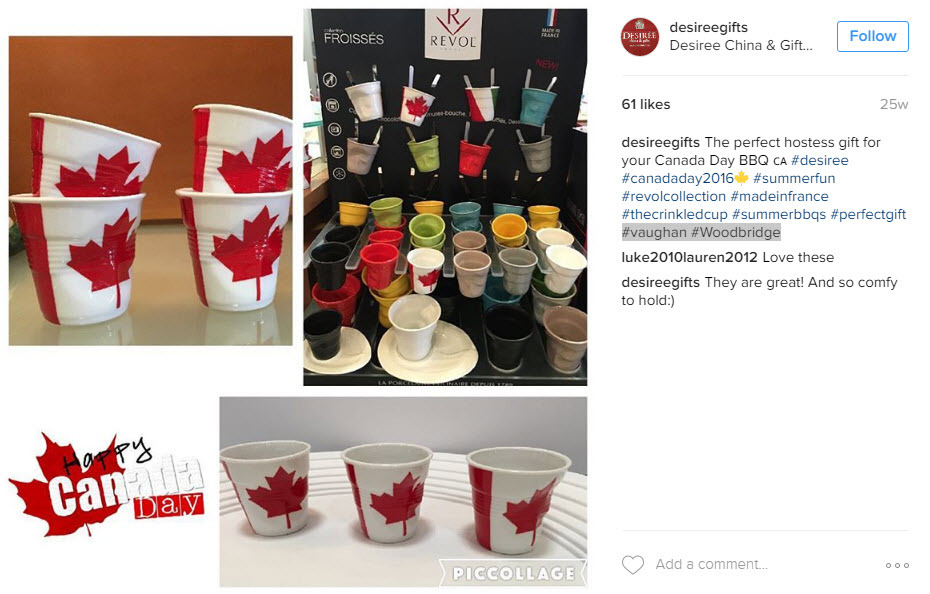 use a mix of geo-targeted and Canada Day Hashtags to reach a local audience that converts