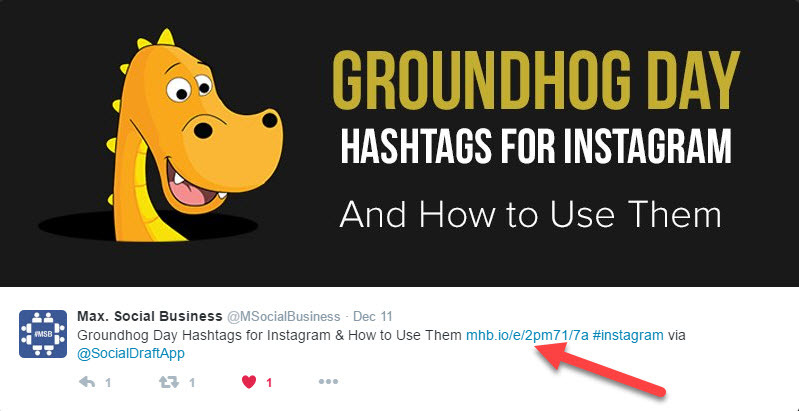 If you want more clicks from Twitter, include them in the middle of the tweet