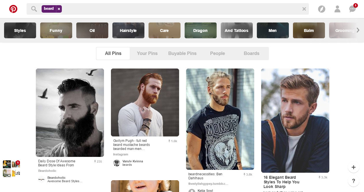The male audience is rapidly growing on Pinterest