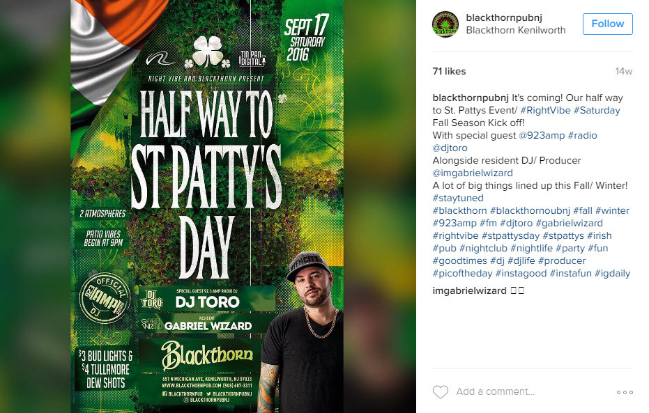 Combine industry and holiday hashtags for St. Patrick's Day