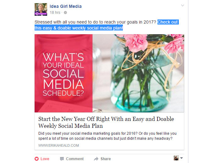 A quick way to increase engagement on posts is to add a call-to-action