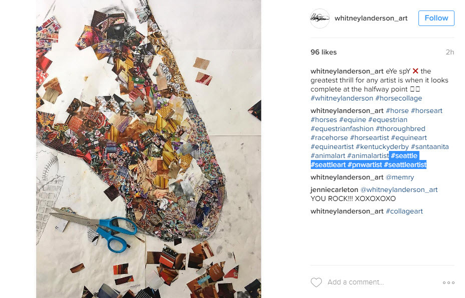 Local brands and businesses need to use city and state hashtags on their horse instagram posts