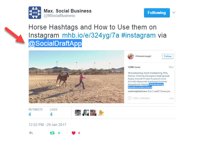 Tag people in your social media posts to get more likes, comments and shares