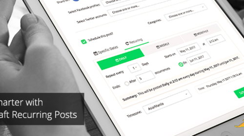 Schedule recurring social media posts with Socialdraft