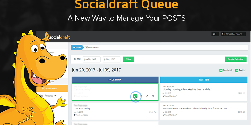 A social media dashboard that lets you delete multiple posts at once