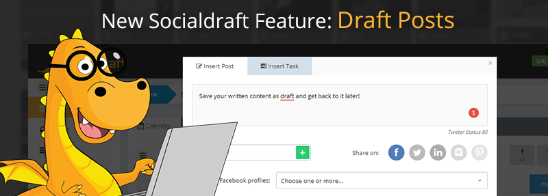 Social Media tool that lets you create draft posts