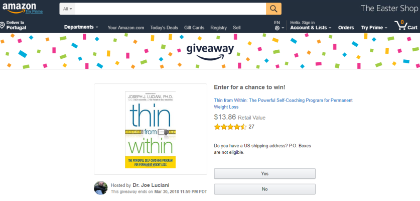 Amazon giveaway can increase your social media following