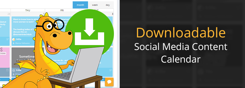 Downloadable social media calendar