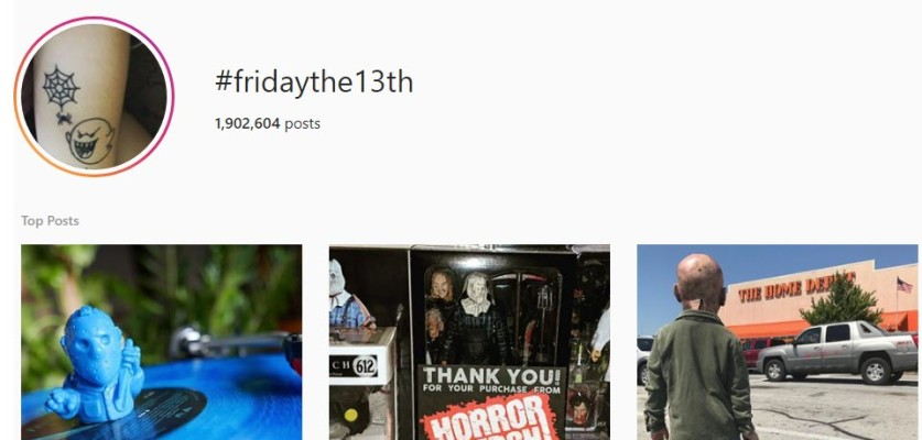 Get more views on Friday the 13th Instagram