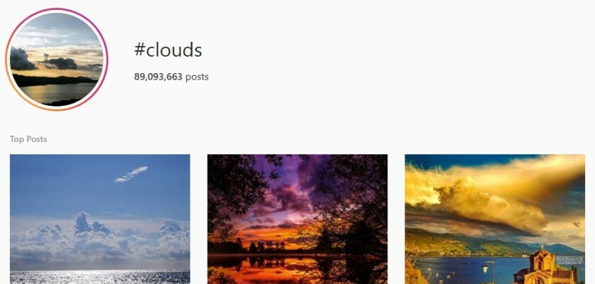 A list of optimized Clouds Hashtags