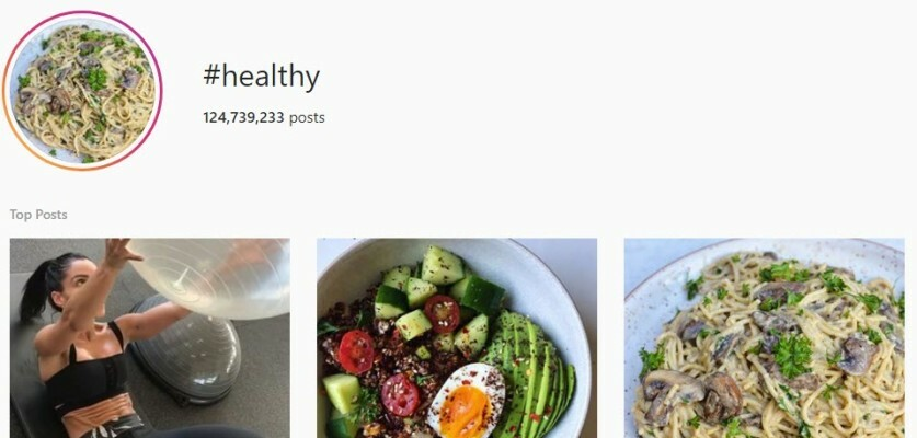 Healthy Hashtags for Instagram