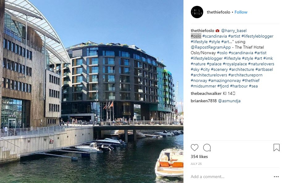 geotargeted Norway hashtags