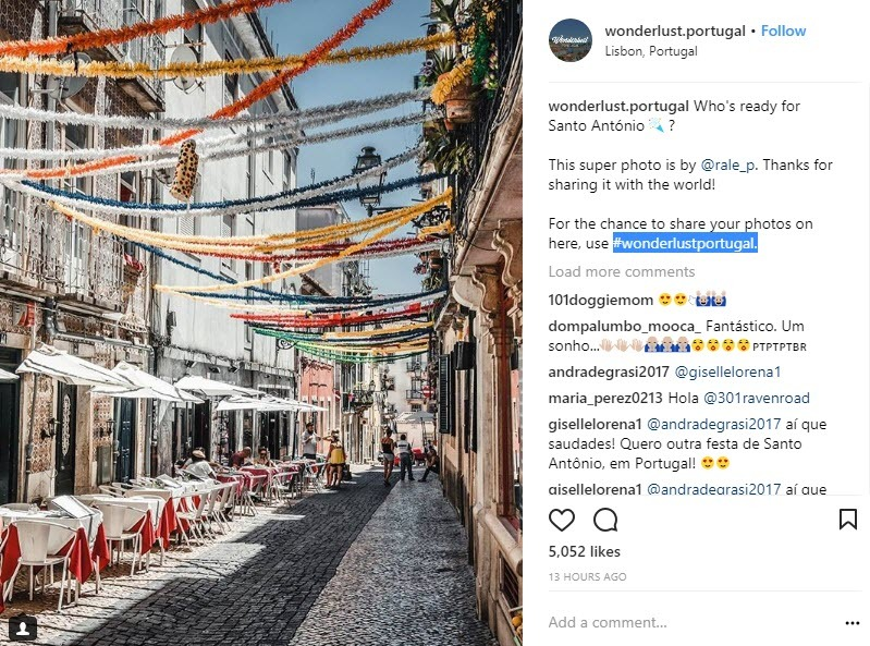 Lisbon Hashtags work best when used with your business hashtags